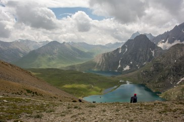 60. Hues of Kishansar and Vishnusar lakes @Gadsar pass 13,850ft